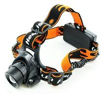3000LM CREE XML XM-L T6 LED Zoomable Headlamp Headlight Head Torch Flashlight