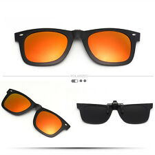 Fashion Driving Mirrored Clip-on Fashion Glasses Flip-up Sunglasses UV400