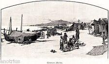 Catanzaro Marina (Catanzaro Lido). Calabria Ulteriore Seconda.Stampa Antica.1880