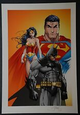 Superman Batman Wonder Woman Michael Turner Aspen Art Print
