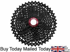 SunRace MX3 Cassette 10 Speed 11-42t Wide Range Black & Red Shimano SRAM Ready