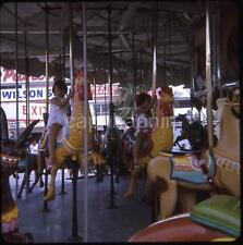Kids on Carousel Pavilion Amusement Park MYRTLE BEACH SC Vtg 1969 Slide Photo