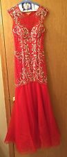 Rachel Allan Mermaid Dress with sequins. Size 6. Only worn one time.
