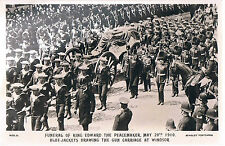 BEAGLES POSTCARD FUNERAL OF EDWARD THE PEACEMAKER WINDSOR 1910
