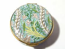 William Morris Staffordshire Enamel Trinket Pill Box Hand Painted, Boxed.  E