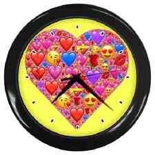 HEART EMOJI COLOURFUL FUN CHILDREN'S KIDS WALL CLOCK *WILL BRIGHTEN UP ANY ROOM*