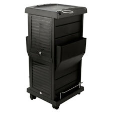 BLACK Deluxe Trolley Cart Hair Beauty Salon Equipment Shelves Rolling Locking