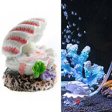Shell Pearl & Air Stone Aquarium Tank Fish Ornament Shell Bubbler Bubbling Decor