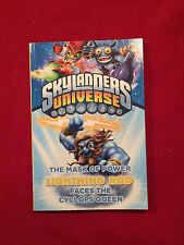 Skylanders Universe Mask of Power Lightning Rod Faces the Cyclops Queen Book