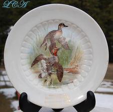 Antique CLARESHOLM ALBERTA CANADA plate w/ ducks MARK FISHER Department Store