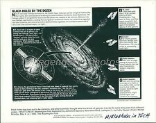 1992 Graph of a Black Hole and Galaxies Original News Service Photo