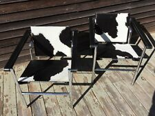 Le Corbusier Vintage LC1 Chairs Pair Cassina Signed