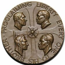 1955 Proclaiming Liberty Society Of Medalists Bronze Medal SOM #51 By Hoffman