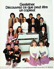 PUBLICITE ADVERTISING 036  1980  Gestetner  copieur  2010