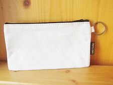 DIY Blank Plain Canvas Pencil Bag / Case, Decoupage, fabric marker, kids Crafts