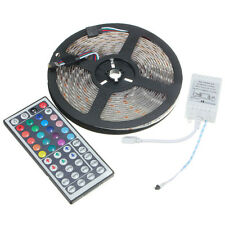 5M 5050 SMD LED Tira de Led Multicolor RGB Impermeable + Flexible Mando Tecla