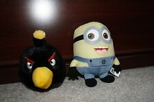 Despicable Me minion 6 inches and Angry Birds stuffed animal