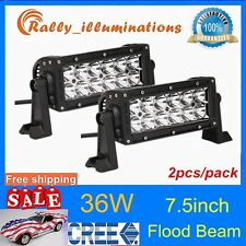 2X36W CREE LED WORKS FLOOD BEAM LIGHT BAR 3000LM 4X4 ATV OFFROAD DRIVING LAMP