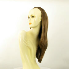 DT Half wig HairPiece extensions long straight light brown golden 24.4 :19/12