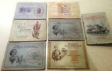 Job lot 7 books with cards flowers radio railway King George V kings & queens