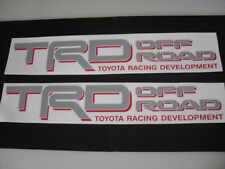 2 Toyota TRD off road decals Tundra Tacoma 4runner Gray/Red