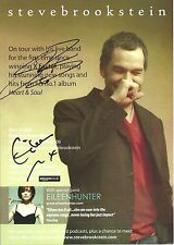 An 8 x 6 inch flyer for Steve Bookstein & Eileen Hunter tour. Signed by both.