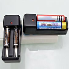 Universal US Dual Battery Charger For 18650 16340 26650 Rechargeable 3.7V Li-ion