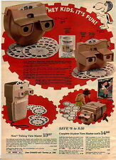 1970 ADVERTISEMENT 2 Pg Viewmaster Talking Lighted Projector Walt Disney Theater