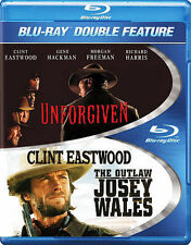 Unforgiven/The Outlaw Josey Wales (Blu-ray Disc, 2014, 2-Disc Set) *New,Sealed*