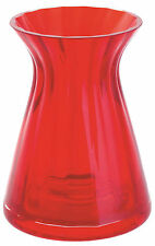 New boxed Dartington Crystal Mini Gem Conical vase red glass, 9cm 3.5""