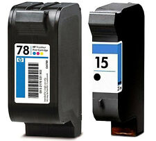 2 CARTUCHOS TINTA NEGRA C6615 HP15 COLOR C6578 HP78 COMPATIBLE DESKJET 920c 948c