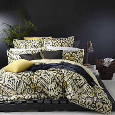 Logan and Mason JAVA CHARCOAL 100% Cotton King Size Bed Doona Quilt Cover Set