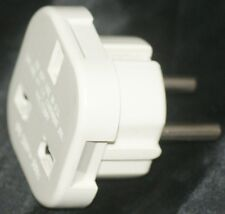 UK TO EUROPE [ CONTINENTAL WALL PLUG ADAPTOR ] White