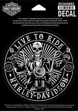 """Orig. Harley-Davidson Aufkleber, Decal """"REBEL SKELETON"""" klein *DC045882*"""