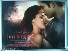 Cinema Poster: TWILIGHT SAGA BREAKING DAWN P1 2011 (Main Quad) Robert Pattinson