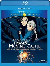 Howl's Moving Castle (Blu-ray + DVD, Studio Anime Ghibli Disney Movie) Brand NEW