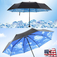 Womens Windproof Folding Parasol for Anti-uv Protection Umbrellas Rain UPF US