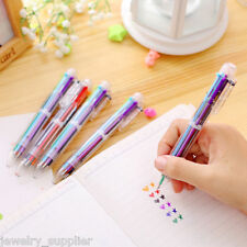 1PC 6in1 Muti Colors Ball Point Pens Multifunction Ballpoint Pen Retractable Pen