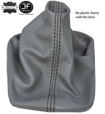 BLACK STITCH MANUAL GREY LEATHER GEAR LEVER GAITER FOR VW NEW BEETLE 1998-2011