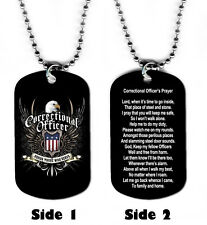 DOG TAG NECKLACE - Correctional Officer's Prayer Corrections God Jesus Amen Law