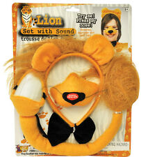 LION WITH SOUND SET KIT NOSE EARS HEADPIECE TAIL & BOW TIE COSTUME FM61731