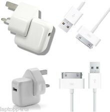 Genuine 2.1Amp iPhone 4 4S 3G 3GS iPod iPad 3 2 1  Mains Wall Charger + Cable
