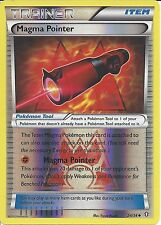 POKEMON TRAINER-carte double XY CRISIS-MAGMA POINTER 24/34 REV HOLO