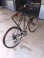 Contemporary Pedersen bicycle (Germany), Shimano components, leather, wood