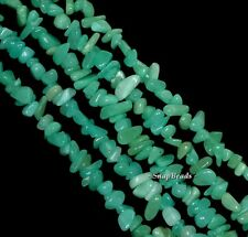 6X3MM-4X2MM GREEN AMAZONITE GEMSTONE PEBBLE CHIPS 6X3-4X2MM LOOSE BEADS 15.5""