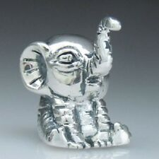ELEPHANT LUCKY Genuine 925 sterling silver charm bead fit european bracelet