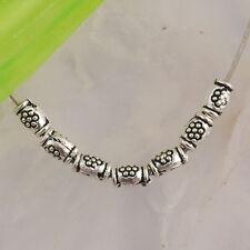 Nd2663 300pcs Tibetan silver little tube spacer beads