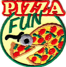"""PIZZA FUN"" - Iron On Embroidered Applique/Food,Entertainment, Show, Movies"