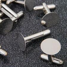 10 PCS Round Cufflinks Cuff Links Metal for Men Unique Design