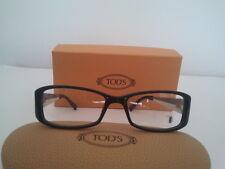 Tod's occhiale da vista mod 5011 plastica nero asta pelle marrone beige €280,00